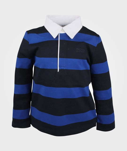 BOSS Polo M Longues Stripe Marine Blue