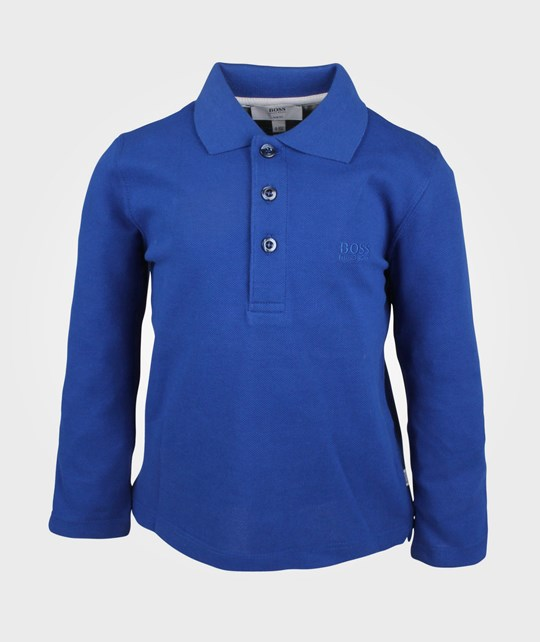 BOSS Polo M Longues Wave Blue Blue