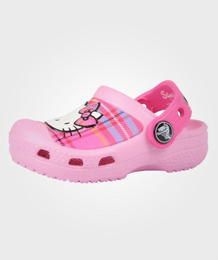 ba84649b0d77 Crocs - Hello Kitty Plaid Clog Carnation   Neon Magenta - Babyshop.com