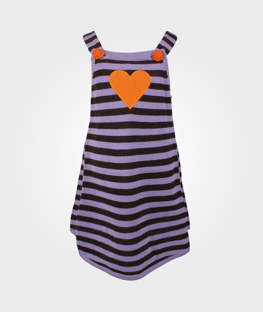 Ej sikke lej Striped Knit Dress Bougainvill Purple