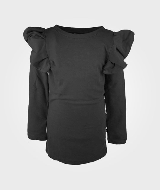 The BRAND Flounce Dress Black Black