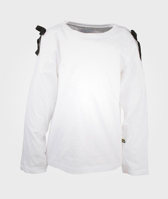 The BRAND Bow L/S White W  Black Ribbons White
