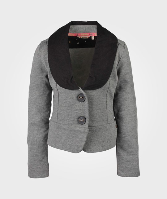 NONO Blazer Interlock Dark Melange Black