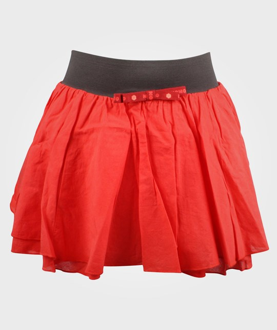 NONO Skirt Flaired Bow Tie Hibiscus Pink