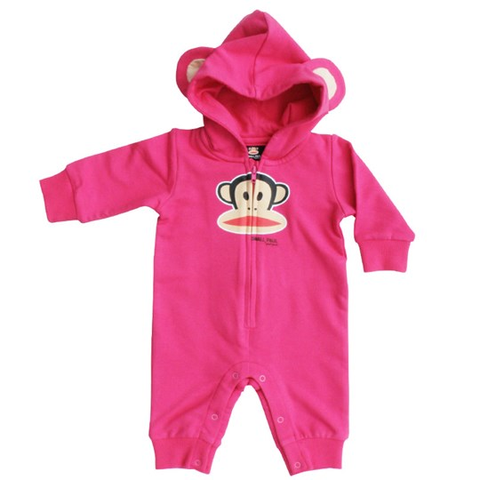 Paul Frank Body Suit Julius zip+hood+ears Pink
