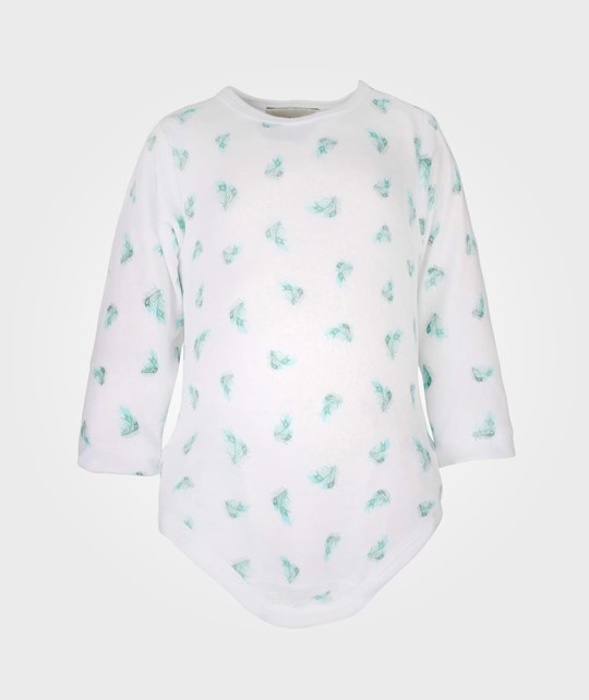 Livly Feather Romper White/Green Green