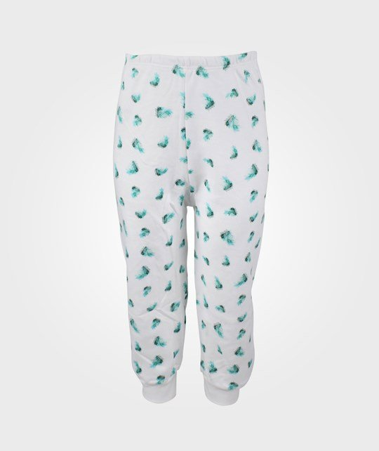 Livly Feather Baby Pants White/Green Green