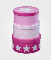 Kids Concept Boxes Round Star Pink Multi