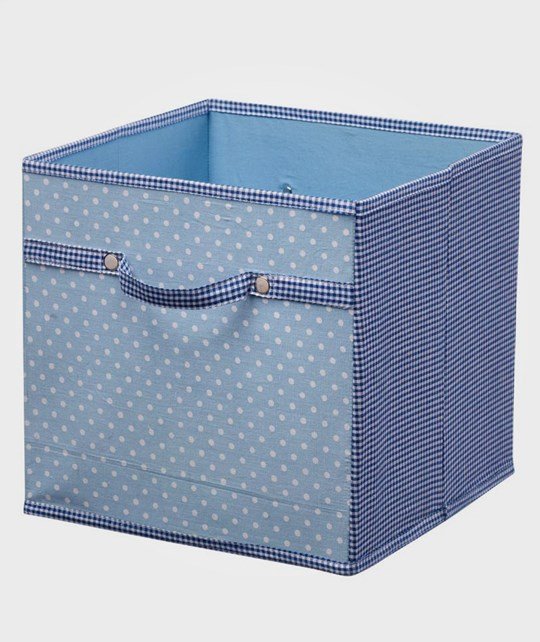 Kids Concept Storage Box Canvas Blue Multi