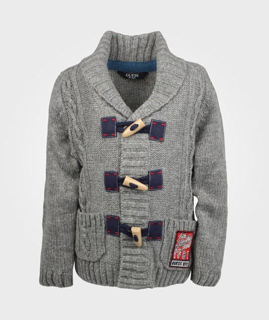 Guess LS Cardigan Grey Melange 024 Sort