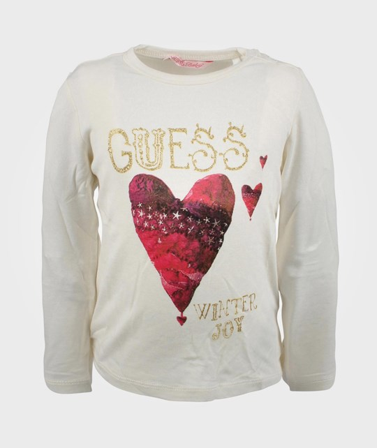 Guess LS T-shirt Whipped Cream 005 White