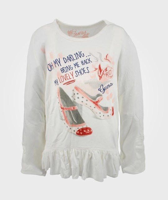 Guess LS T-shirt Whipped Cream 036 White