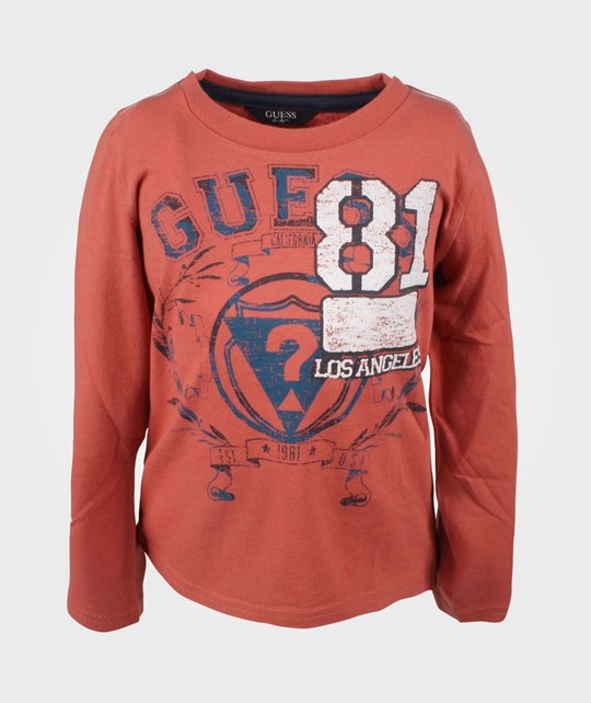 Guess LS Shirt Terracotta Red Red