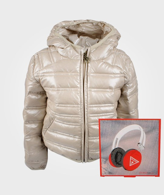 Guess LS Down Jacket Pearl White