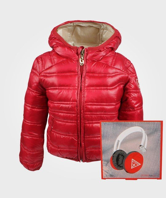 Guess LS Down Jacket Electric+Hörlurar Red