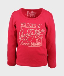 Guess LS T-shirt Electric Crimson