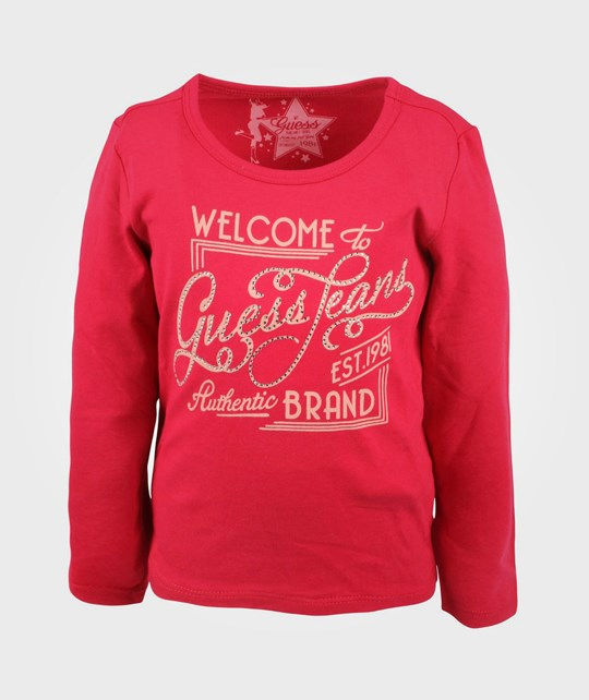 Guess LS T-shirt Electric Crimson Red