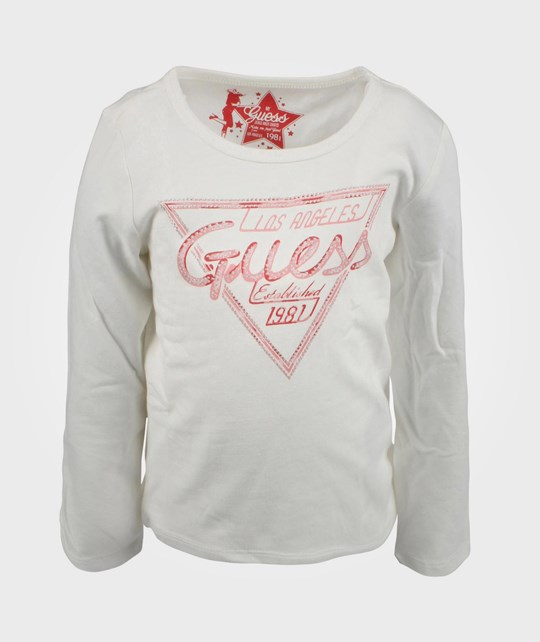Guess LS T-shirt Whipped Cream White