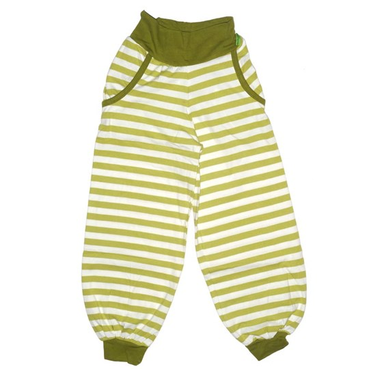 Plastisock Kids Trainer Pants Striped Oas Green