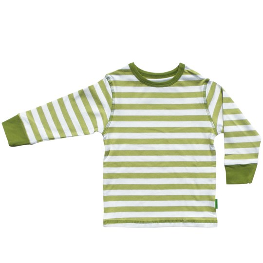 Plastisock T-shirt LS Striped Oasis Green