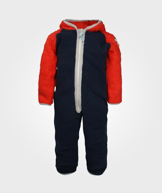 Molo Uny Fleece Suit Black Iris Blue