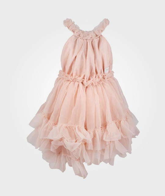 DOLLY by Le Petit Tom Ruffled Chiffon Dance Dress Pink