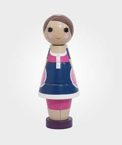 sebra Wooden Stacking Doll Girl