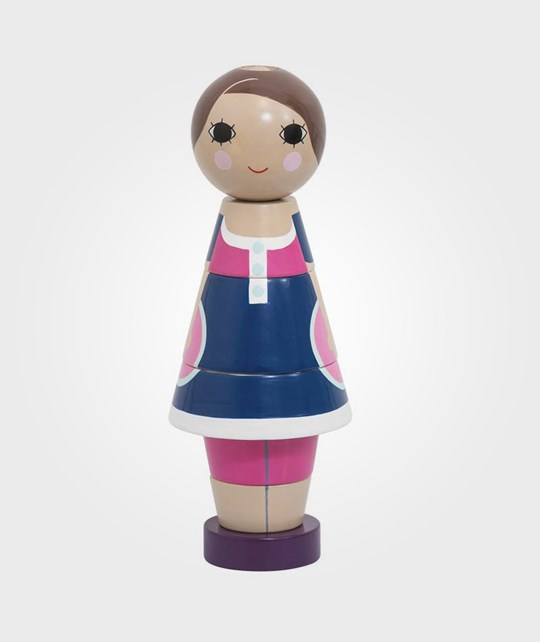 sebra Wooden Stacking Doll Girl Multi