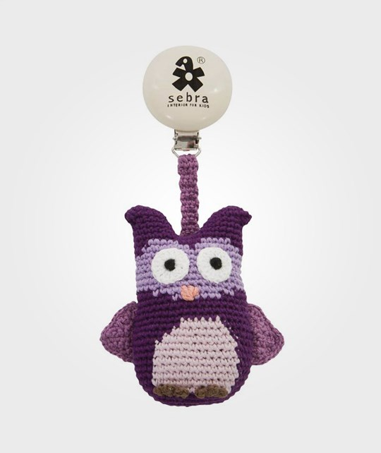 sebra Clip For Pram Owl Lilac Purple