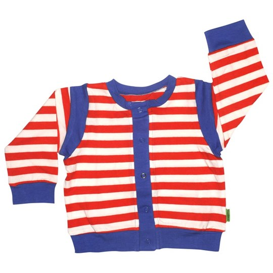 Plastisock Baby Trainer Jacket Striped Fiery Red Red