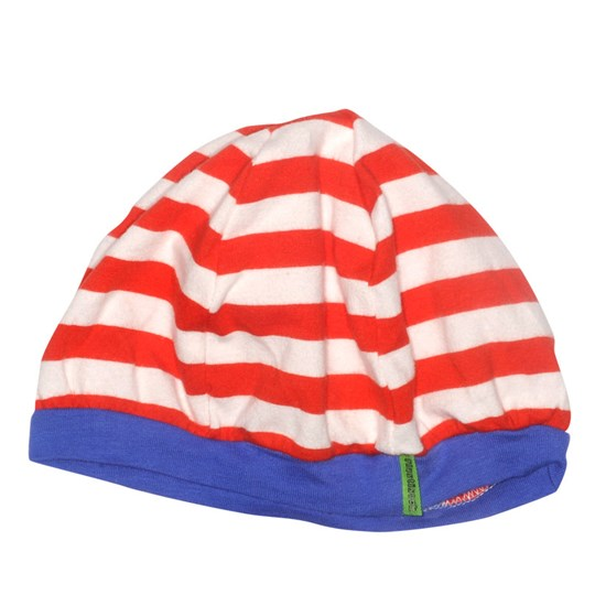 Plastisock Beret Striped Cap Red Red