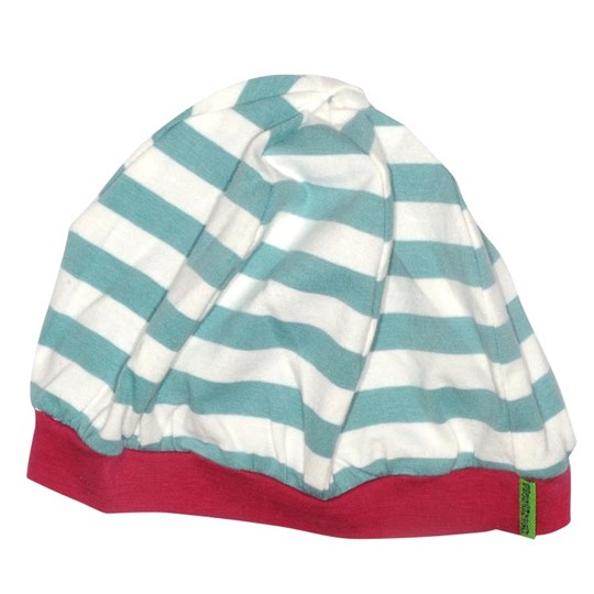 Plastisock Beret Striped Cap Dusty Turquo Turquoise