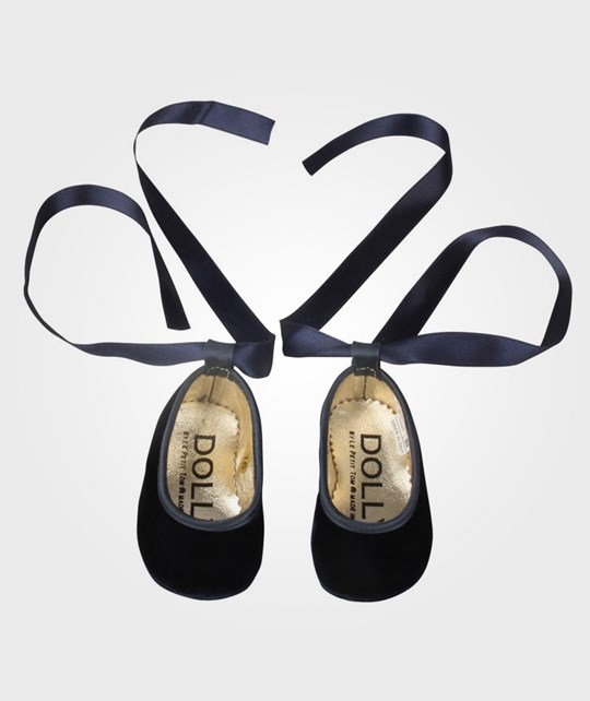 DOLLY by Le Petit Tom Baby Ballerina Navy Blue/Gold Blue