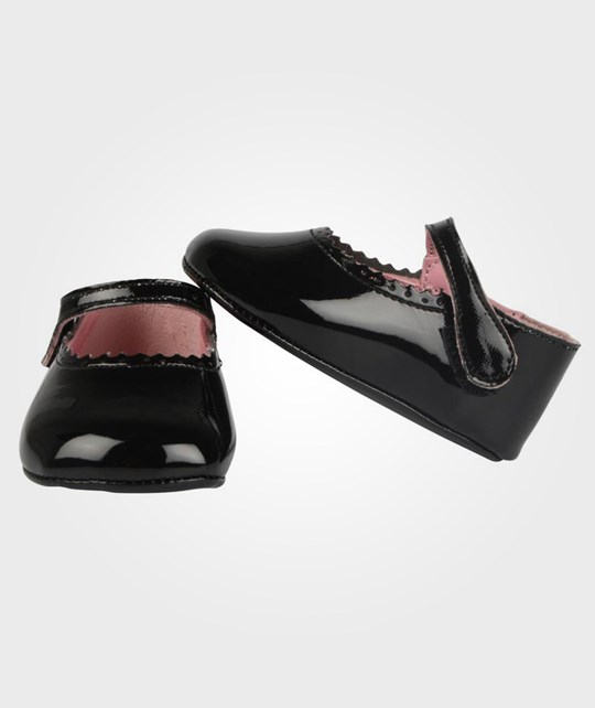 DOLLY by Le Petit Tom Baby Mary Janes Black Black