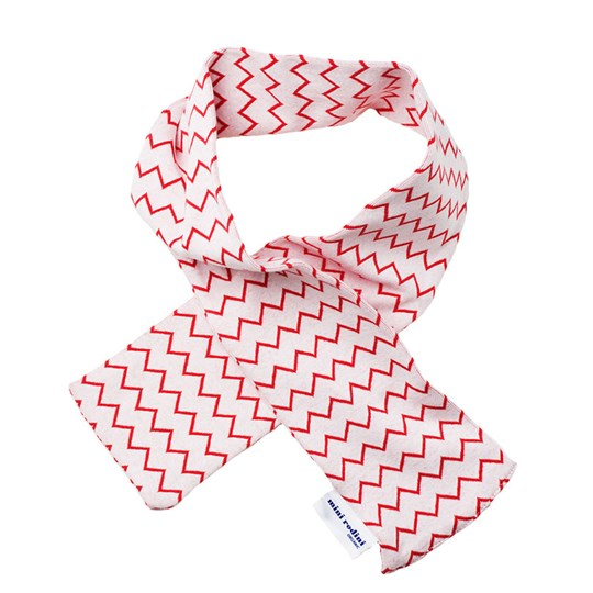 Mini Rodini Zig Zag Scarf Red Stripe Red