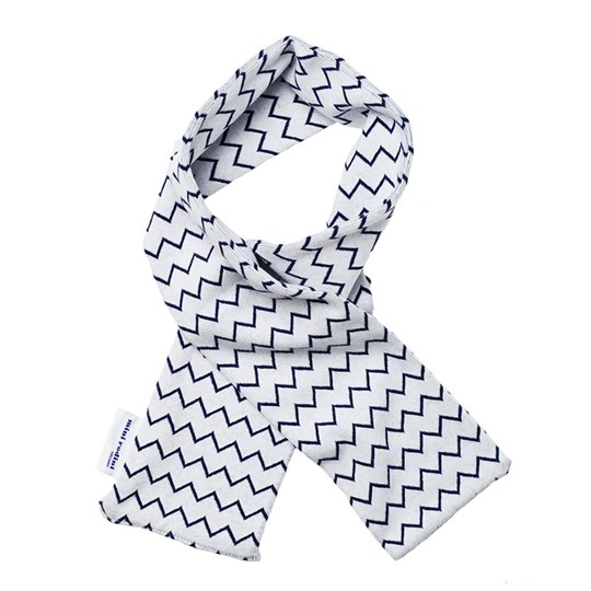 Mini Rodini Zig Zag Scarf Blue Stripe Blue