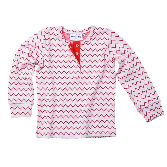 Mini Rodini L/S Zig Zag Grandpa Red Red