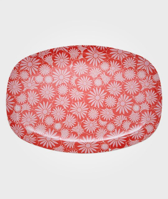 Rice Rectang. Plate Red Casablanca Red