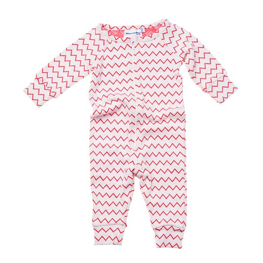 Mini Rodini Jumpsuit Zig Zag Red Red