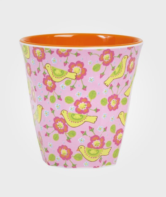 Rice Melamine Cup Bird Print Multi
