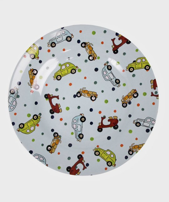 Rice Melamine Lunch Plate Vehicles Multi
