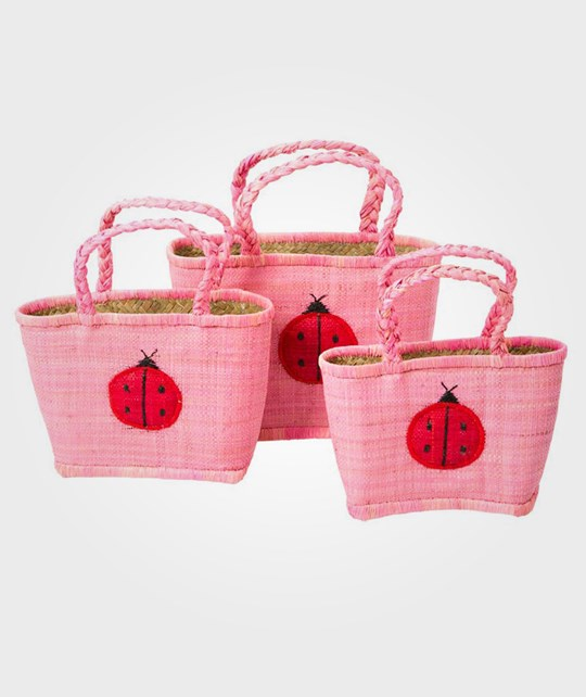 Rice Kids Shoppingbag Ladybird Rosa Pink