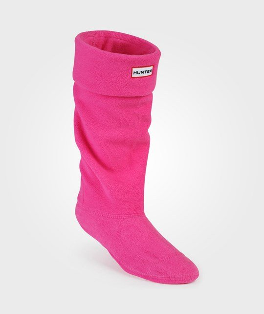 Hunter Kids Fleece Welly Fuschia Purple