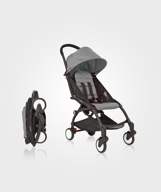 BABYZEN YOYO Black Chassi/Grey Fabric Black