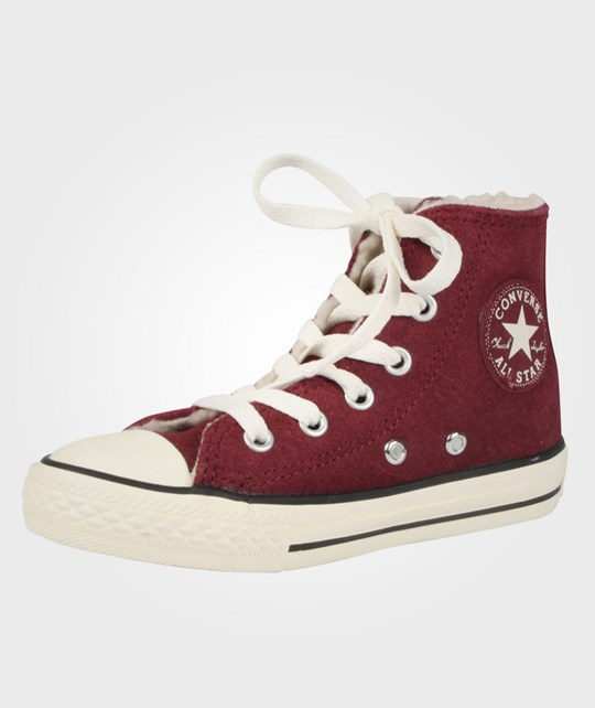 Converse All Star Suede Shearling Hi Burg Red