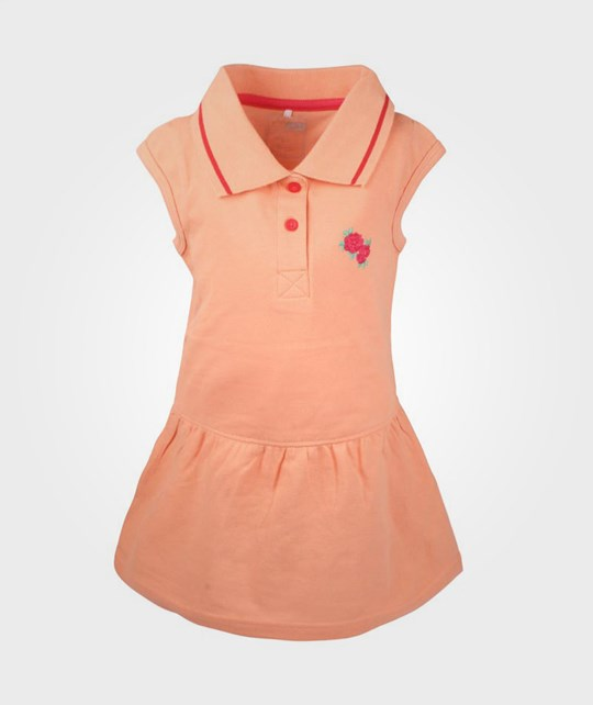 Name it Valla Mini Cap Dress Papaya Pink