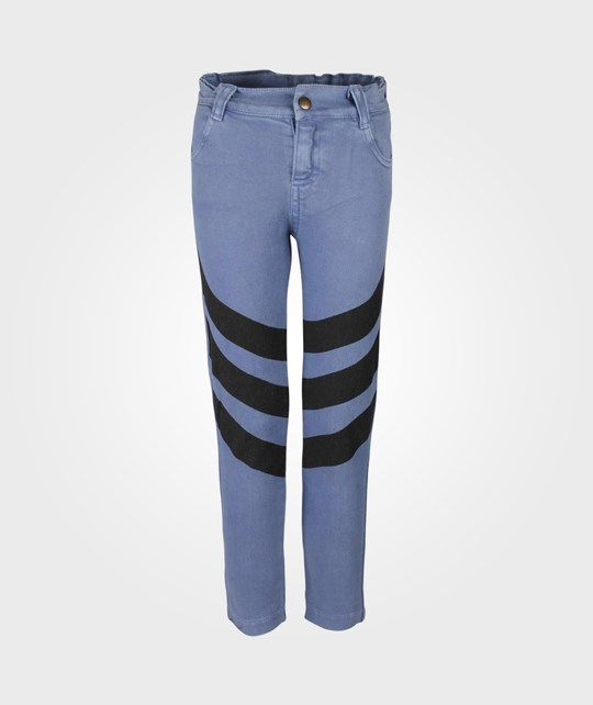Bobo Choses Trousers Chevron Denim Blue Blue