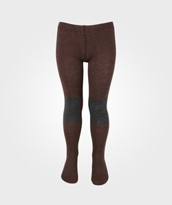 Bobo Choses Tights Patch Knee Contrast Grey