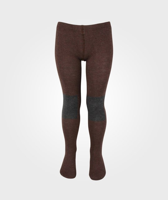 Bobo Choses Tights Patch Knee Contrast Grey Black