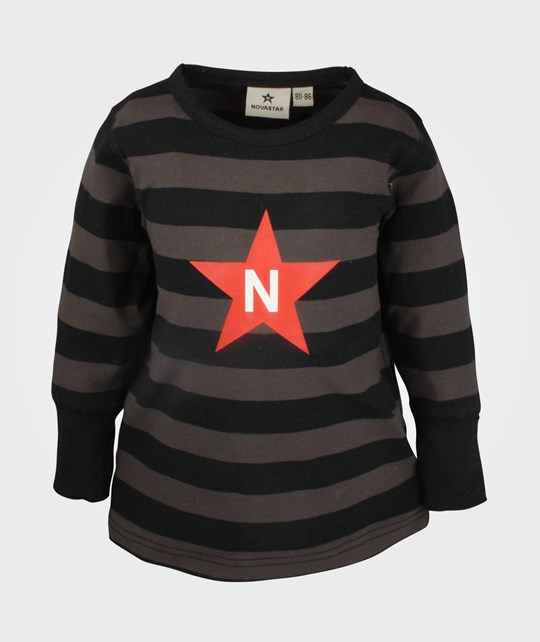 Nova Star Striped T Black Black